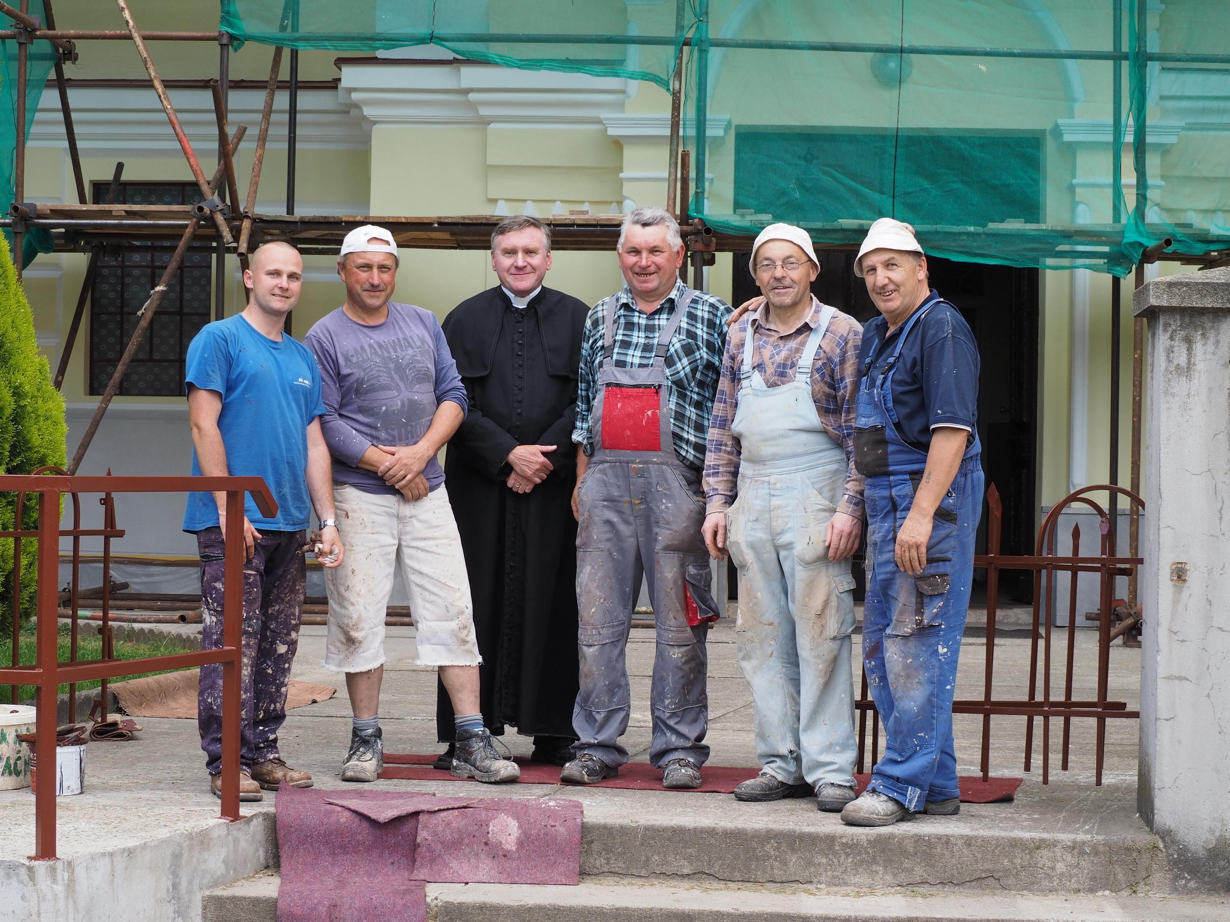 Oprava fasády kostola